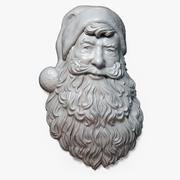 Santa Claus Portrait Relief 3d model
