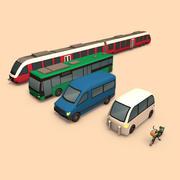 Openbaar vervoer (cartoon) 3d model