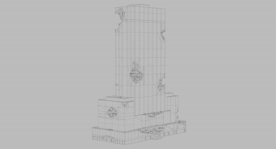 苏康尼美孚毁了 royalty-free 3d model - Preview no. 9
