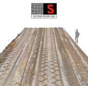 Tire Tracks Scan 16K 3d model