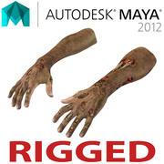 Mani di zombi truccate per Maya 3d model