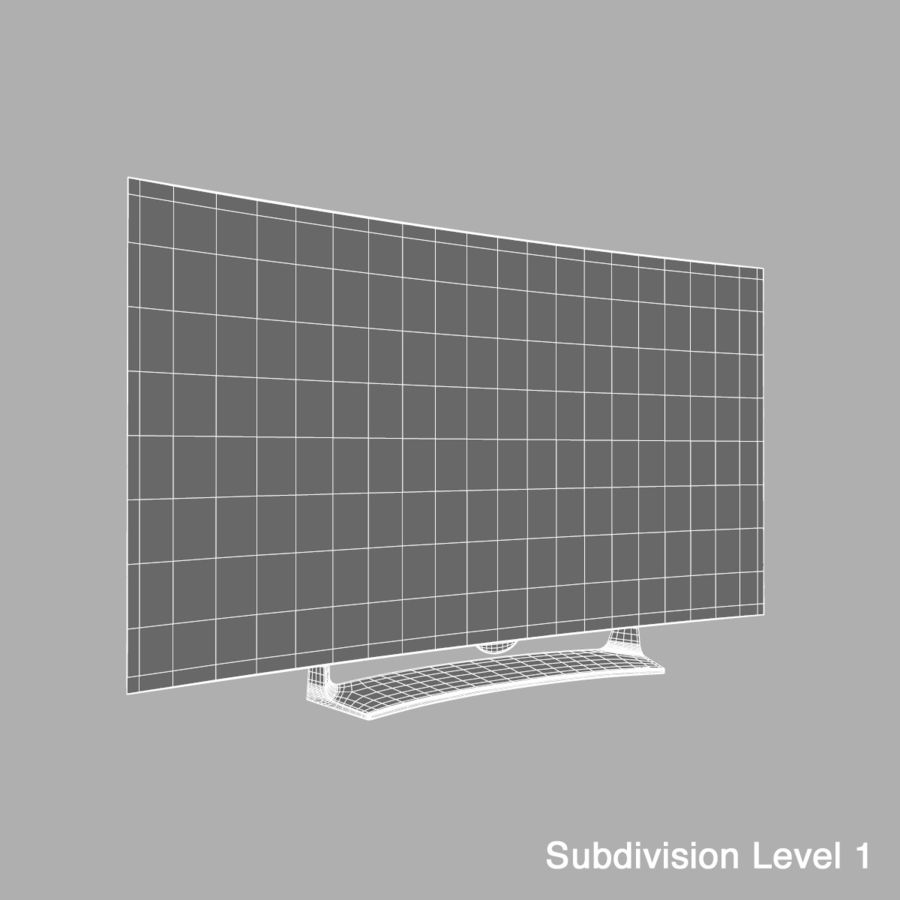 LG OLED Television royalty-free 3d model - Preview no. 10