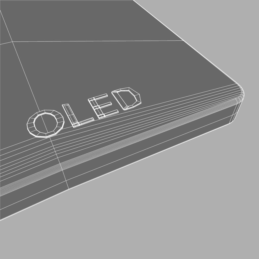 LG OLED Television royalty-free 3d model - Preview no. 13