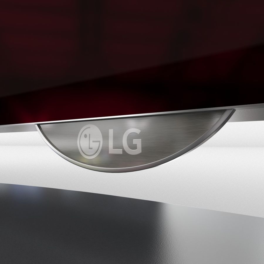 LG OLED Television royalty-free 3d model - Preview no. 5
