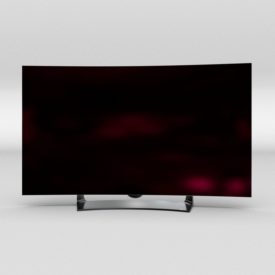 LG OLED Television royalty-free 3d model - Preview no. 7