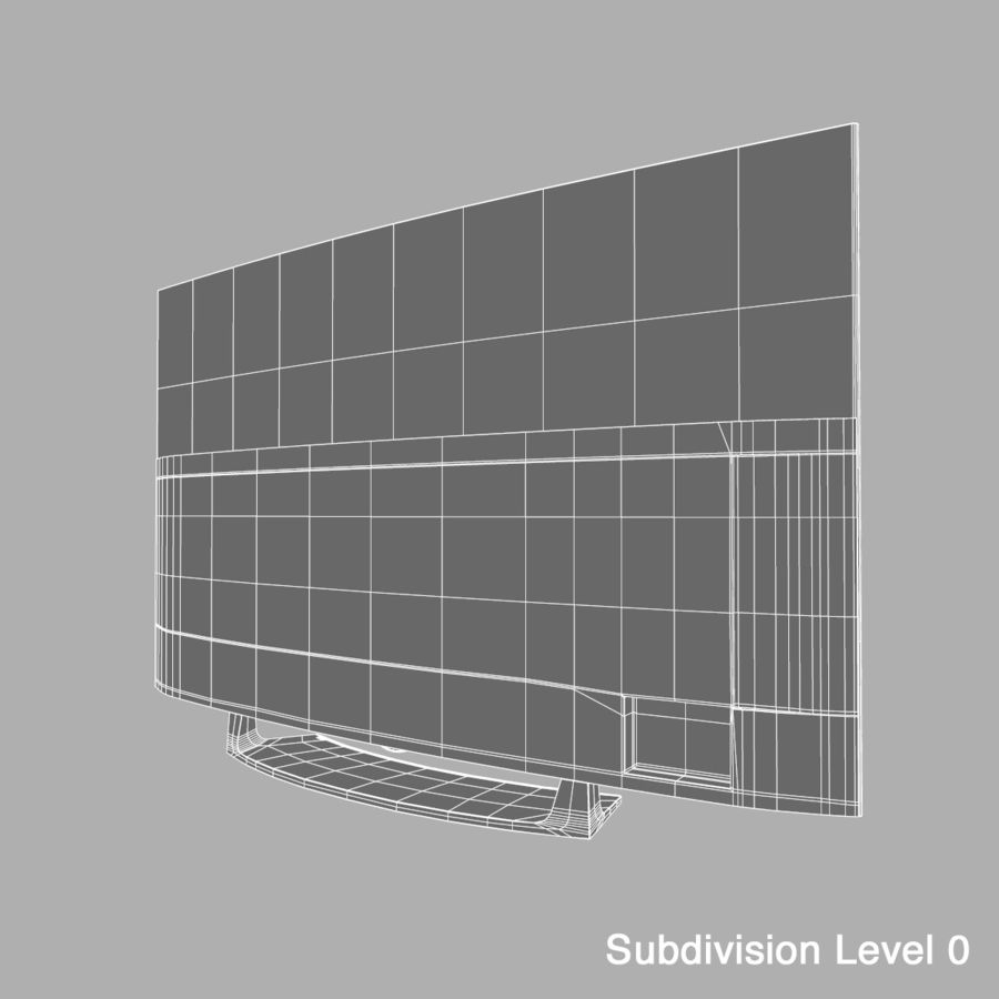 LG OLED Television royalty-free 3d model - Preview no. 15