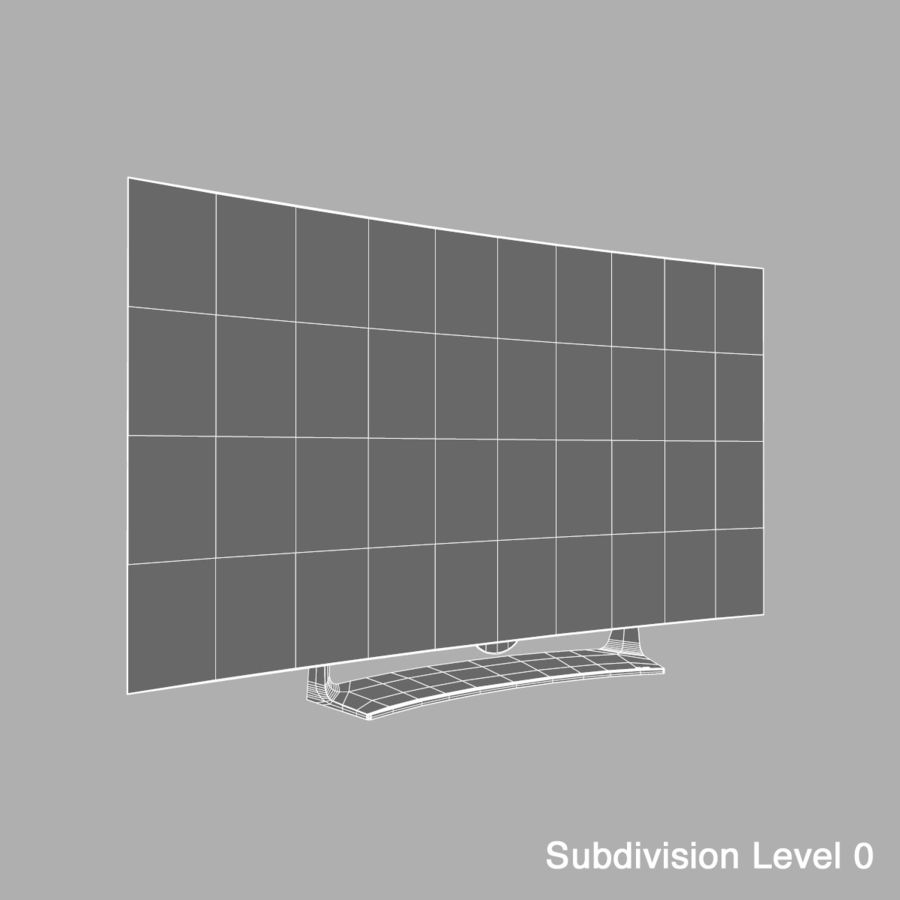 LG OLED Television royalty-free 3d model - Preview no. 9