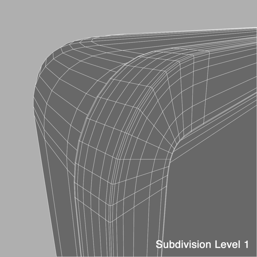LG OLED Television royalty-free 3d model - Preview no. 12
