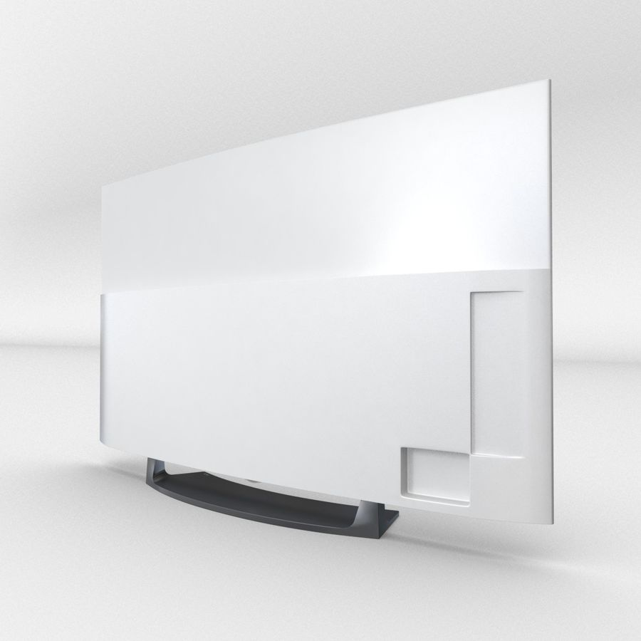 LG OLED Television royalty-free 3d model - Preview no. 3
