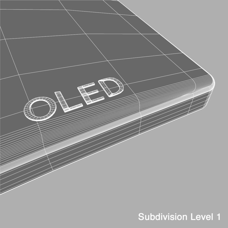 LG OLED Television royalty-free 3d model - Preview no. 14