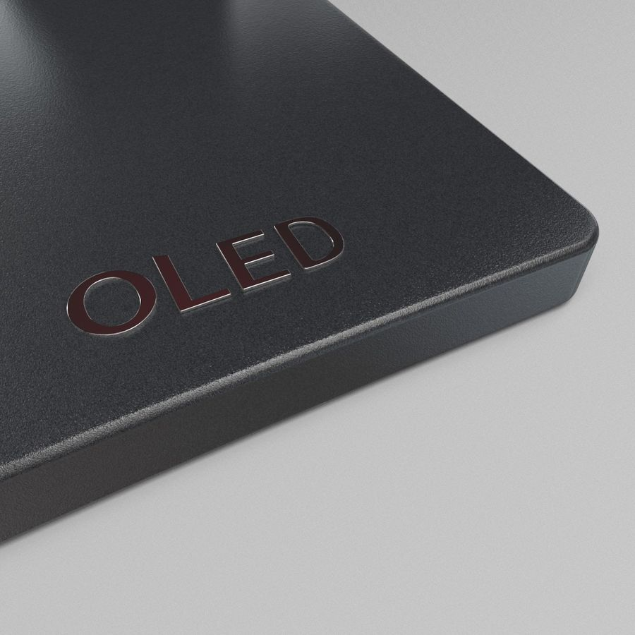 LG OLED Television royalty-free 3d model - Preview no. 6