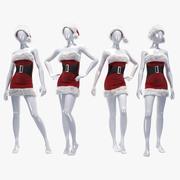 Boże Narodzenie żeński manekin 3d model