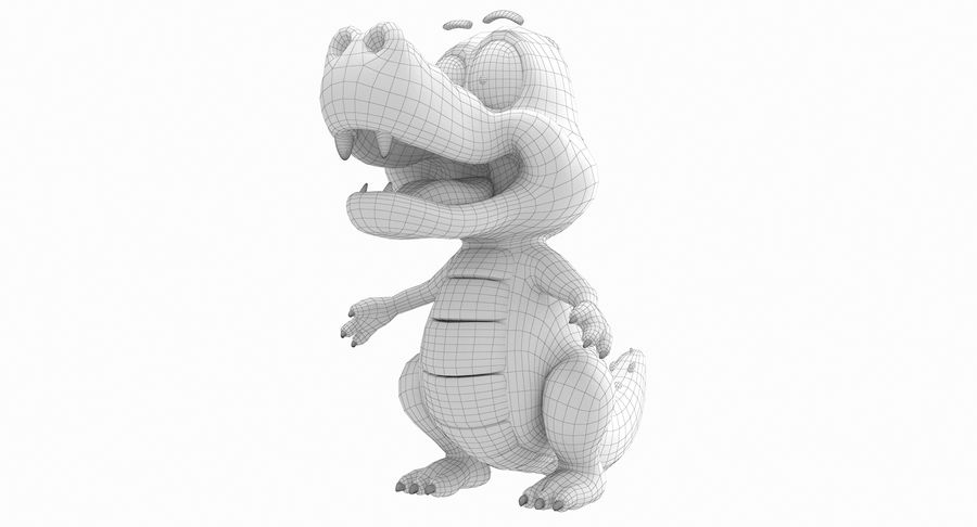 Dessin animé bébé dragon royalty-free 3d model - Preview no. 13