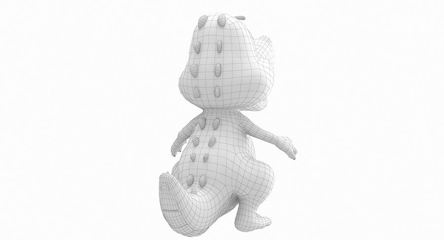 Dessin animé bébé dragon royalty-free 3d model - Preview no. 18