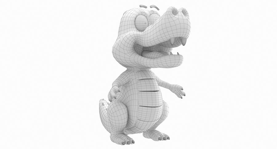 Dessin animé bébé dragon royalty-free 3d model - Preview no. 15