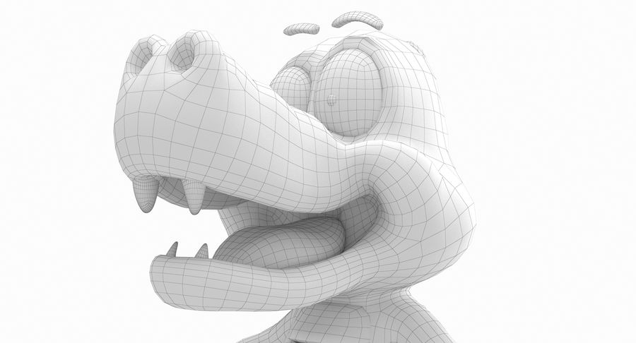 Dessin animé bébé dragon royalty-free 3d model - Preview no. 14