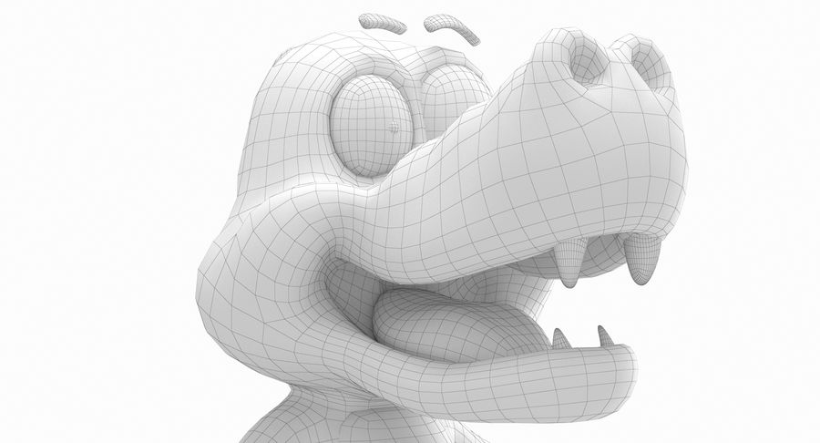 Dessin animé bébé dragon royalty-free 3d model - Preview no. 16