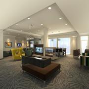 Lobby relax TV room 3d model