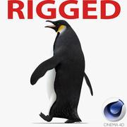 Emperor Penguin Rigged for Cinema 4D 3d model