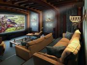 Интерьер домашнего кинотеатра 3d model