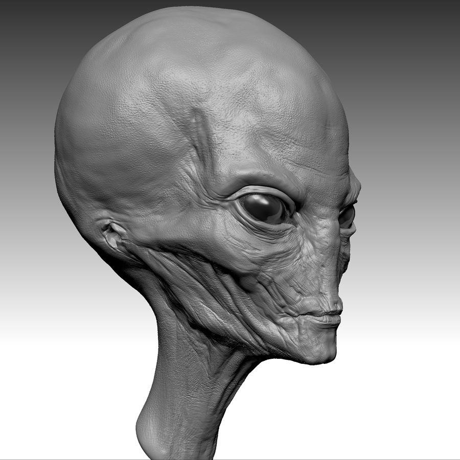 UFO Alien Head royalty-free 3d model - Preview no. 15