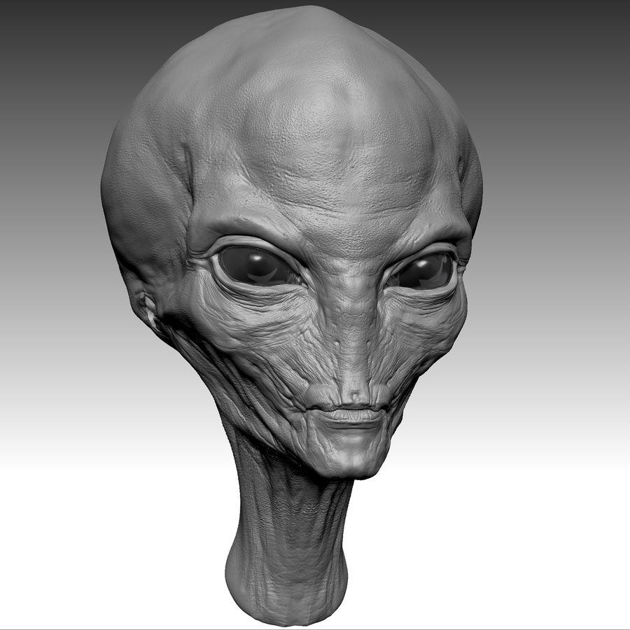 UFO Alien Head royalty-free 3d model - Preview no. 16