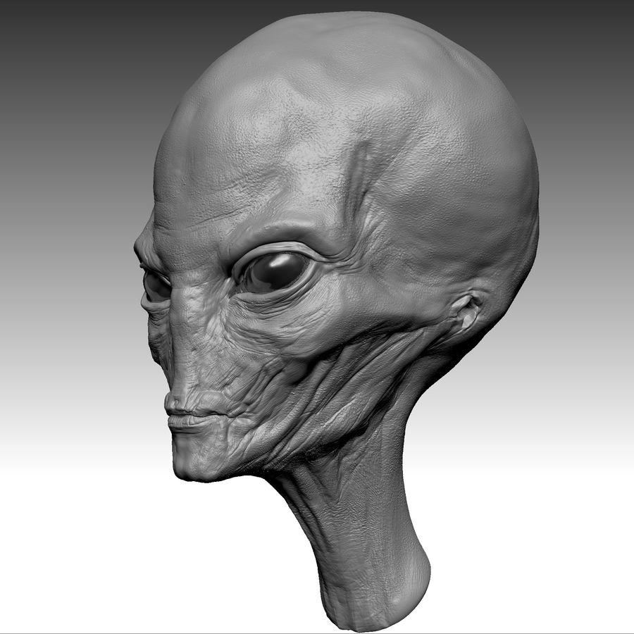 UFO Alien Head royalty-free 3d model - Preview no. 9