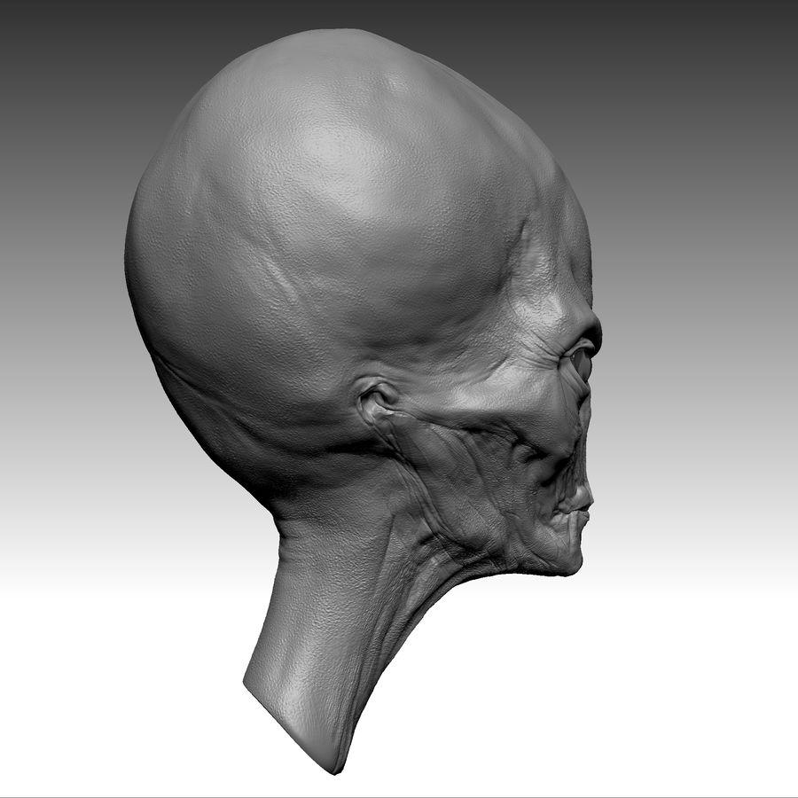 UFO Alien Head royalty-free 3d model - Preview no. 13