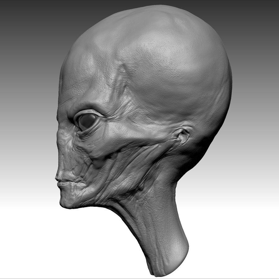 UFO Alien Head royalty-free 3d model - Preview no. 10