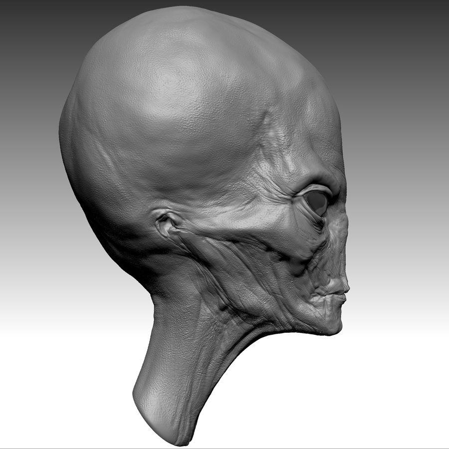 UFO Alien Head royalty-free 3d model - Preview no. 14