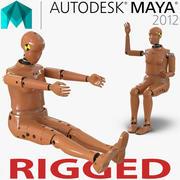 Crash Test Dummy för kvinnor riggade för Maya 3d model
