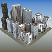 City Block Downtown 3d model