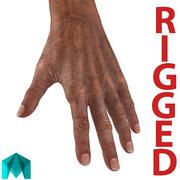 Mani del vecchio truccate per Maya 3d model