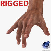Old Man Hands Rigged pour Cinema 4D 3d model