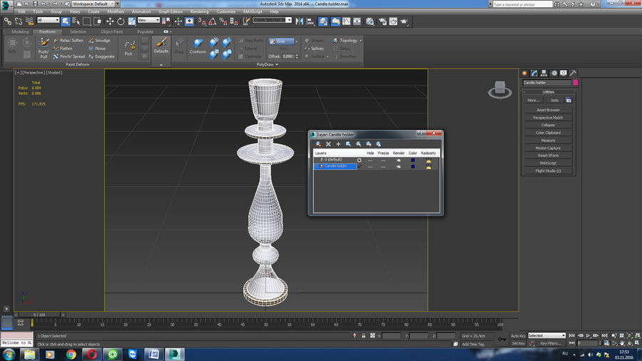 Candle holder royalty-free 3d model - Preview no. 10