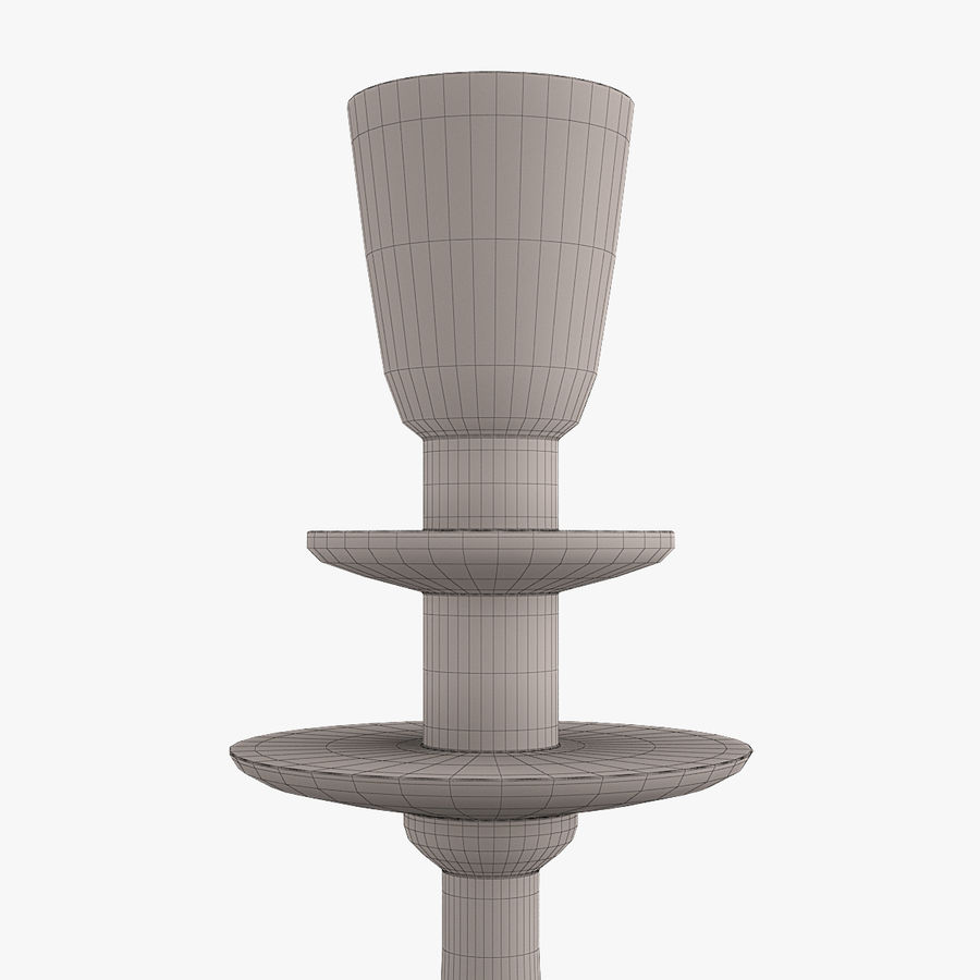 Candle holder royalty-free 3d model - Preview no. 9
