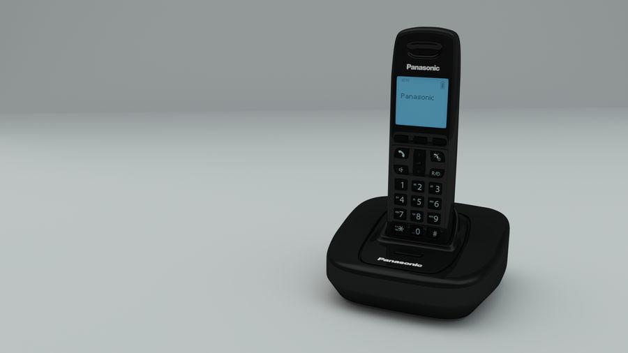 无绳电话手机 royalty-free 3d model - Preview no. 6
