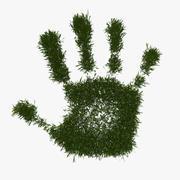 Mano verde della pace 3d model