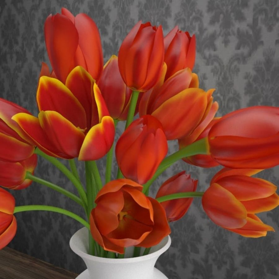 Tulipes royalty-free 3d model - Preview no. 3