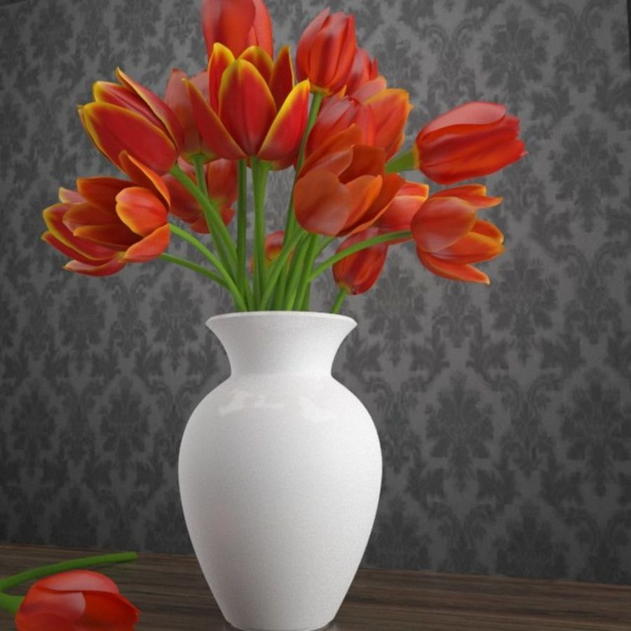 Tulipes royalty-free 3d model - Preview no. 2