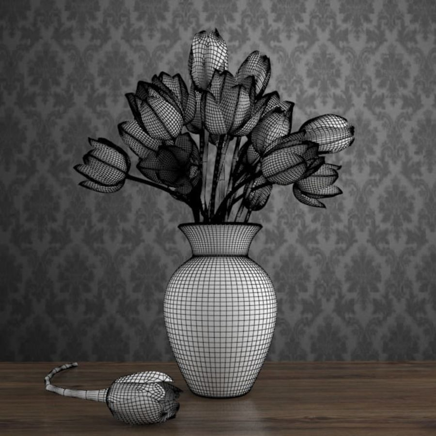 Tulipes royalty-free 3d model - Preview no. 5