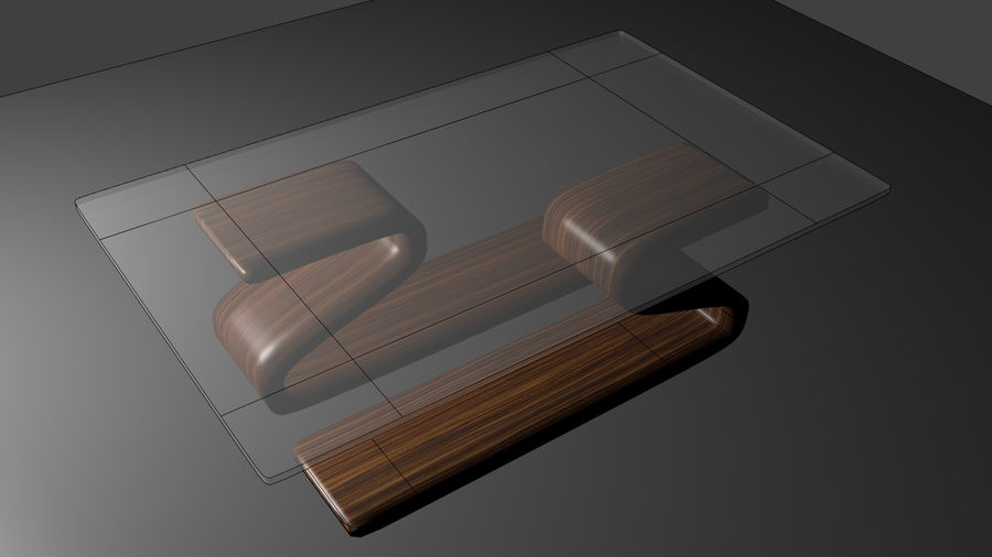 Vardagsrumsbord royalty-free 3d model - Preview no. 5