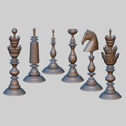 Carved Chess 3d model