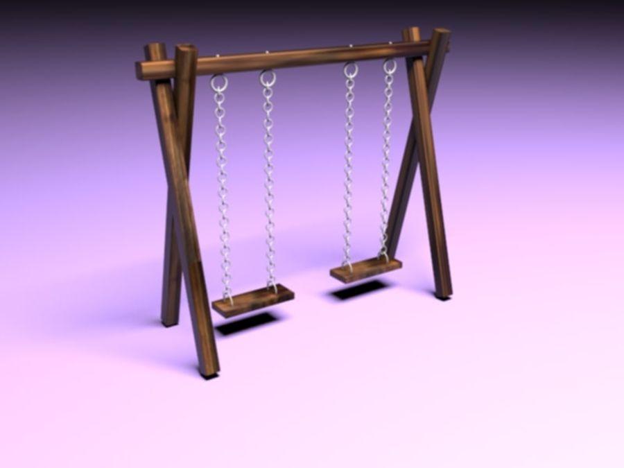 Barnen gungar royalty-free 3d model - Preview no. 1