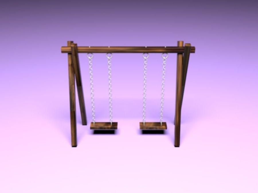 Barnen gungar royalty-free 3d model - Preview no. 5