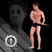 남성 스캔-믹 포즈 003_145k 폴리 3d model