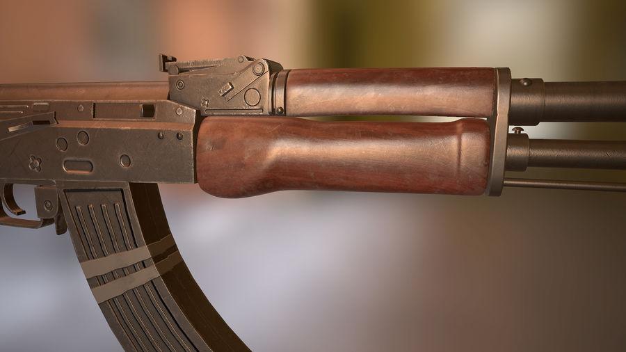 Kalashnikov AK 47 royalty-free 3d model - Preview no. 5