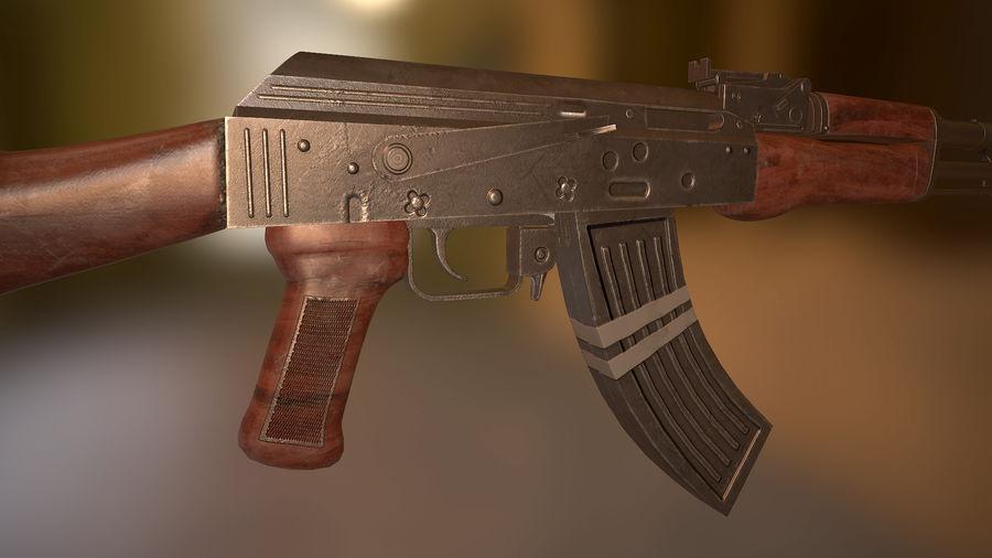 Kalashnikov AK 47 royalty-free 3d model - Preview no. 4