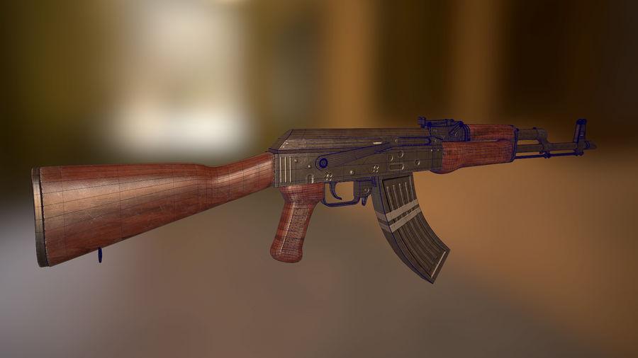 Kalashnikov AK 47 royalty-free 3d model - Preview no. 1