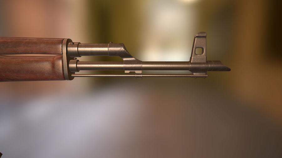 Kalashnikov AK 47 royalty-free 3d model - Preview no. 6